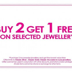 Accessorize | Buy 2 Get 1 Free on Selected Jewellery
