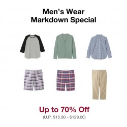 MUJI   Markdown Special up to 70% off!