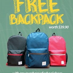 Kappa | free backpack with any purchase of school shoes