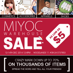 MIYOC | Year End Warehouse Sale 2014