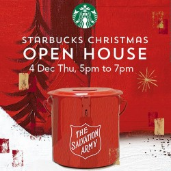 Starbucks Singapore   Christmas Open House Promotion with free beverage on the house