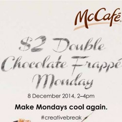 McCafe Singapore | S$2 Double Chocolate Frappe Monday 8 Dec 2014