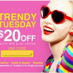 Lazada.sg | Trendy Tuesday: Get SG$20 Off with minimum spend of $100