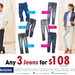 Denizen Singapore | 2014 Year End Promotion: Any 3 Jeans for S$108