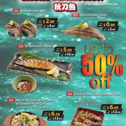Itacho Sushi | up to 50% off Sanma Promotion at Jcube