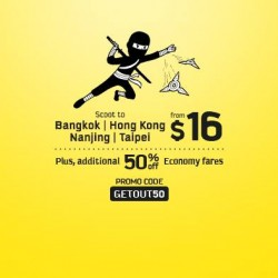 Scoot | Flash Sale + Additional 50% OFF
