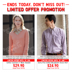 Limited offer promotions @ Uniqlo
