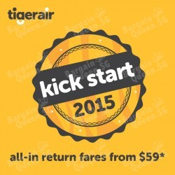 TigerAir   Kick Start 2015 with all-in airfare from $59