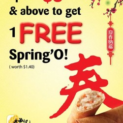 Free Spring'O with $5 spend @ Old Chang Kee