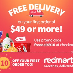 Exclusive $10 off New Year promotion @ RedMart