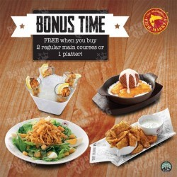 Extra Bonus with regular main courses / platter order @ The Manhattan FISH MARKET