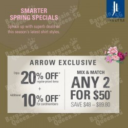 20% off regular-priced items @ John Little