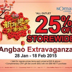 25% off storewide CNY promotion @ Somang
