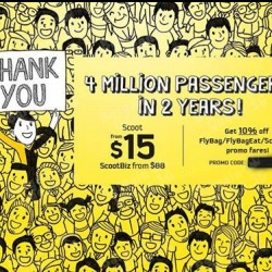 Scoot | 4 million passengers celebration