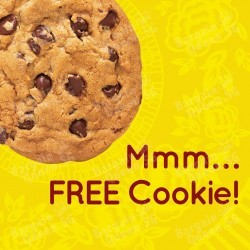 Free cookie with purchase @ Subway