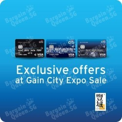 Citibank exclusive offer at Gain City Expo Sale