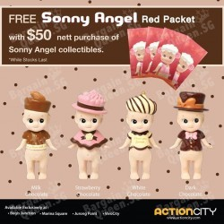 free Ang Baos with $50 purchase of Sonny Angel collectibles @ Action City