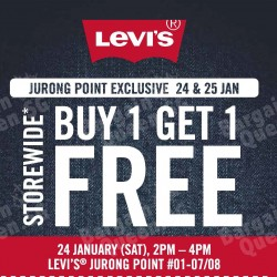 Storewide buy 1 get 1 free @ Levi's Jurong Point
