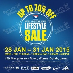 The LifeStyle Sale up to 70% off @ Royal Sporting House