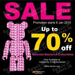 Action City | up to 70% off selected BE@RBRICK collectibles
