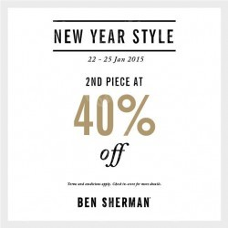 40% off 2nd piece @ Ben Sherman