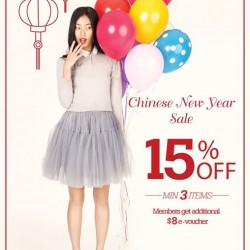 15% off with min. 3 items at MITJU