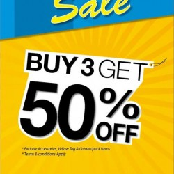 Buy 3 get 50% off @ NET