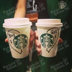 Starbucks | 1-for-1 promotion between 3 - 7 pm