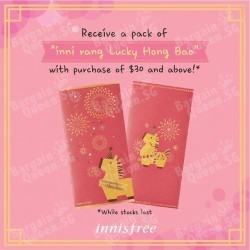 Lucky Hong Bao with any purchase of $30 @ Innisfree