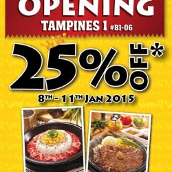 Pepper Lunch | 25% off opening promotion at Tampines 1