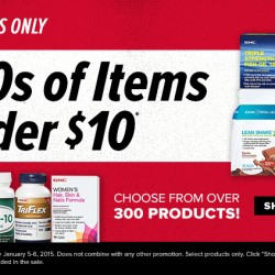 GNC USA | US$9.99 Sale on Top Vitamins, Minerals, Herbs and more