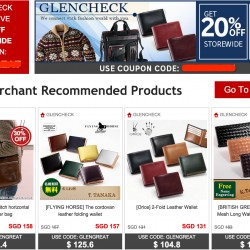 Rakuten.com.sg | 20% OFF Coupon Code @GLENCHECK + 5% OFF with mastercard