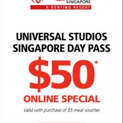 Universal Studios Singapore Adult Day Pass Ticket Package @ S$55