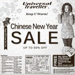 Chinese New Year Sale @ Universal Traveller