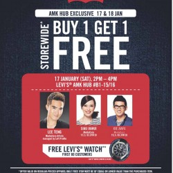 Levi's Storewide Promotion @ AMK HUB on 17 & 18 Jan 2015