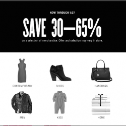 30 - 65% off sale @ Bloomingdale's