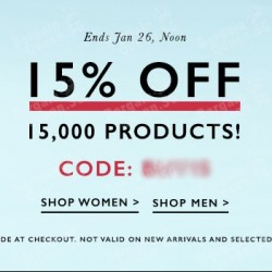 15% off weekend sale @ Zalora