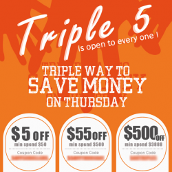 Triple 5 Thursday @ Rakuten.com.sg
