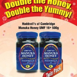 Haddrell's of Cambridge Manuka Honey TwinPack @ Nature's Farm