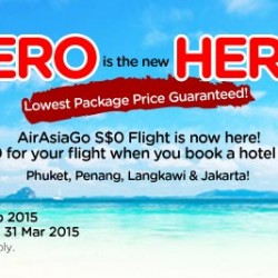"""Zero is the new Hero"" $0 air fare promotion on AirAsiaGo"
