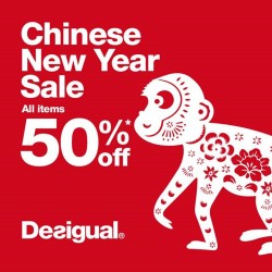 Desigual: Chinese New Year sale Up to 50% OFF
