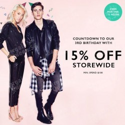 15% off with $100 spend @ Zalora