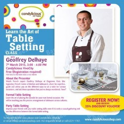 free table setting lesson @ Candylicious Vivo City