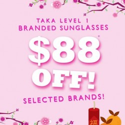 $88 off on selected sunglasses @ C.E.D.S Sunglasses