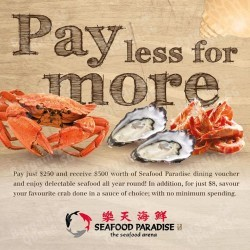 $250 for $300 worth of cash dining vouchers @ Paradise Group