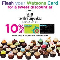 10% off at Twelve Cupcakes with Watsons cards