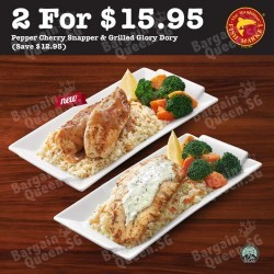 Pepper Cherry Snapper + Grilled Glory Dory @ The Manhattan FISH MARKET