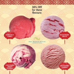 30% off all Red colored ice cream @ New Zealand Natural