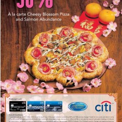 30% off a la carte pizza @ Pizzahut with CitiBank cards