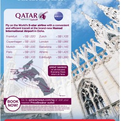 Qater airline fabulous fares promotion @ PriceBreaker